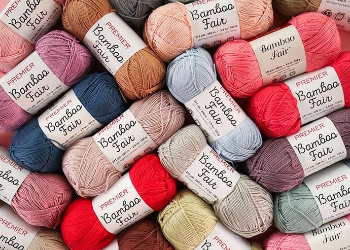 Premier Bamboo Fair yarn assorted yarn balls
