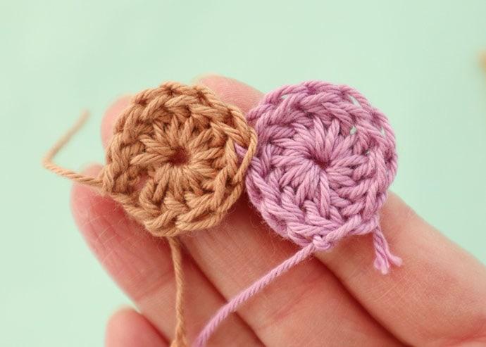 join as you go crochet circles
