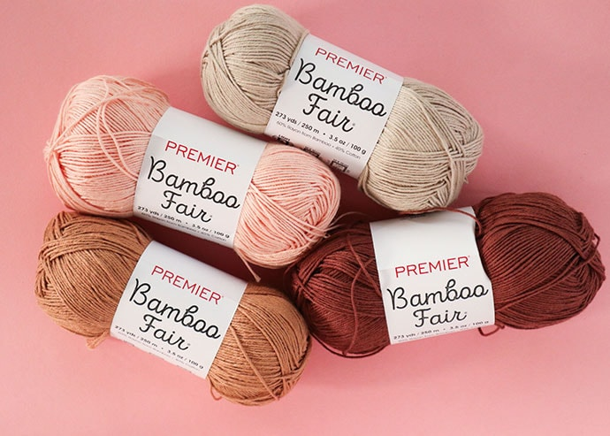 Premier Bamboo Fair yarn assorted yarn skin tone colors