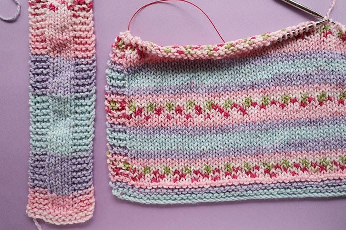 Self stiping pattern of premier bloom chunky yarn