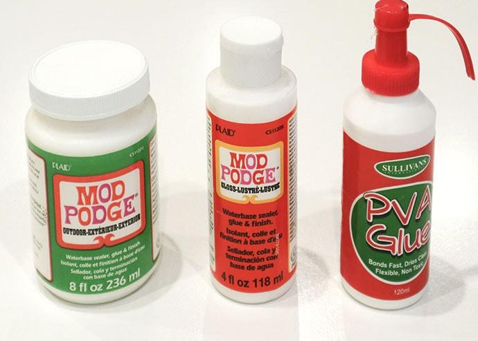 Mod podge and pva glue for paper mache