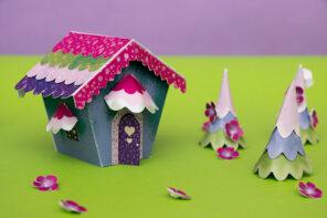 3D Paper House Craft – Fairy Tale Village