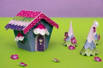 paper craft fairy tale village