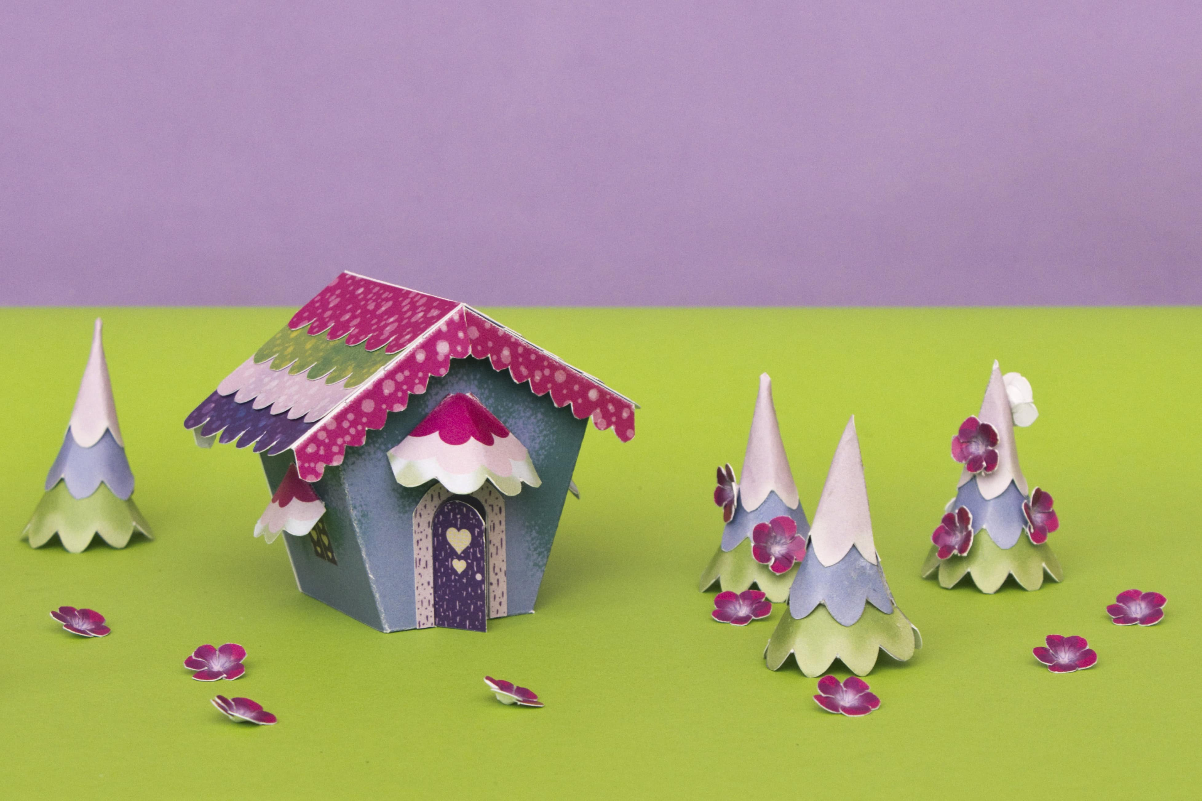 fairy tale village made from paper