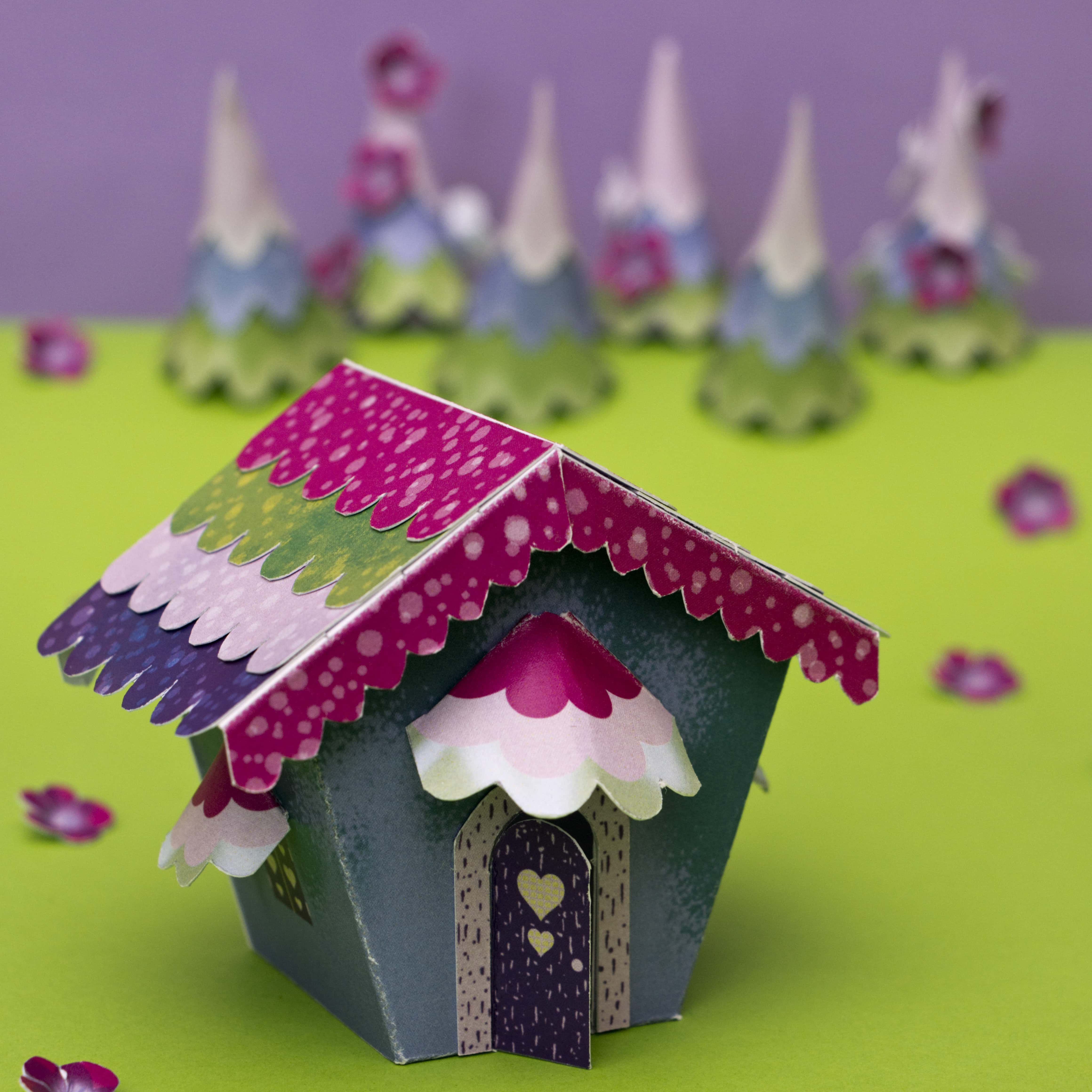 fairy tale paper house craft