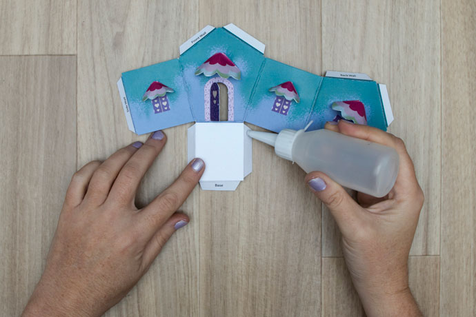 how to make a paper house craft project process steps