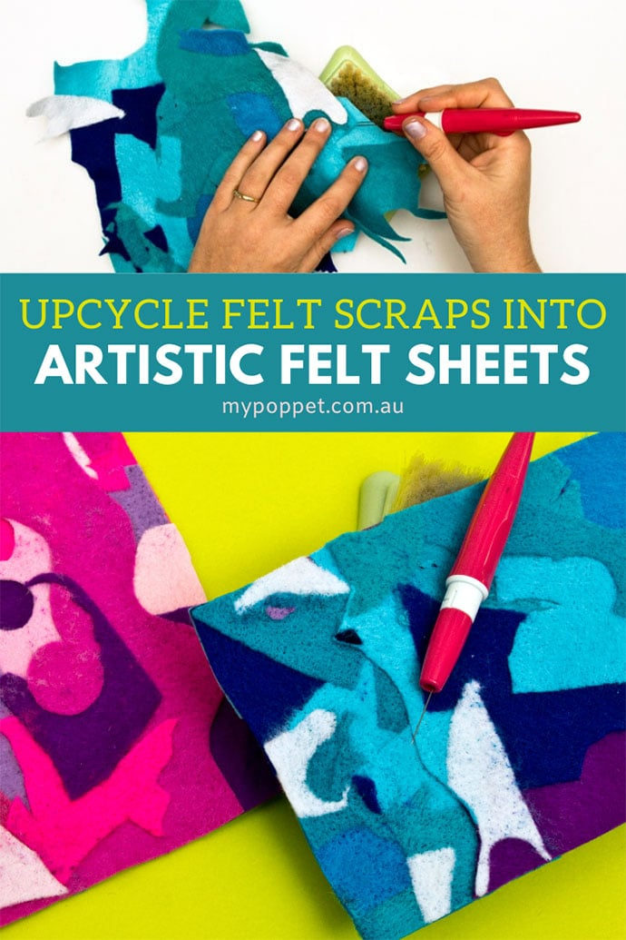 how to upcycle felt scraps
