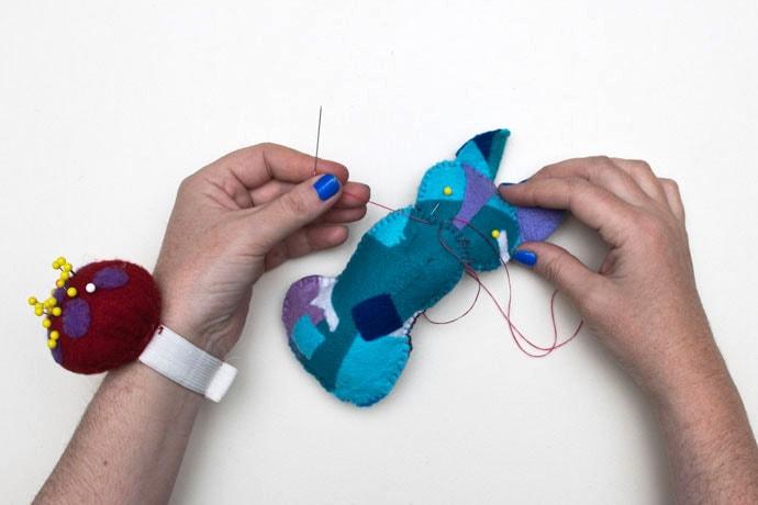 cat sewing pattern - body stitching instructions