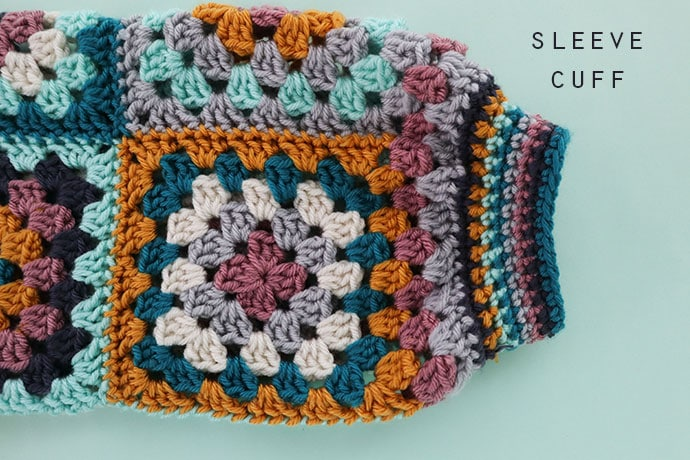 crochet cardigan gathered sleeves