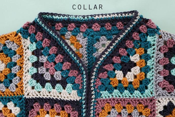granny cardigan collar detail