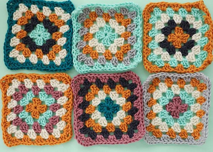 6 granny squares