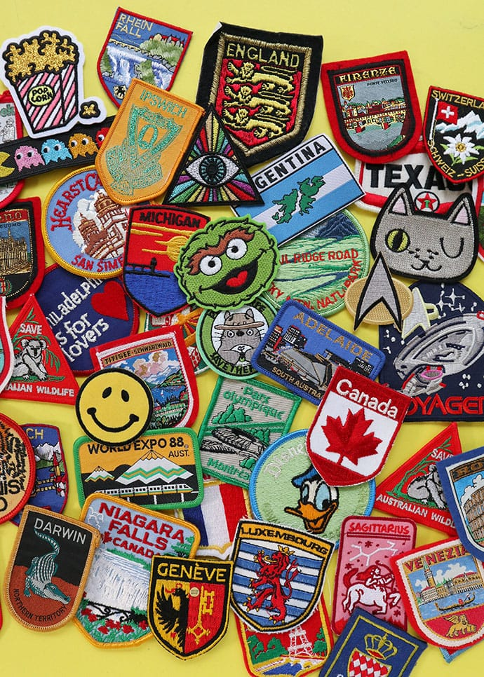 collection of sew on patches
