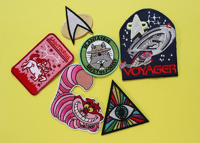 sew on patches from etsy stored