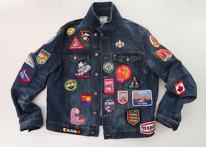 custom patch denim jacket