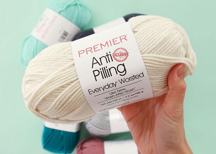 premier anti pilling yarn - white