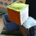 felt rattle block toy