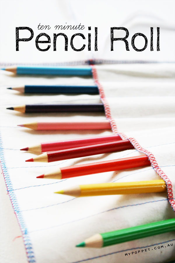 How to make an easy pencil roll