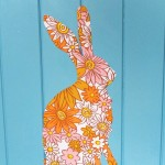 bunny fabric decal