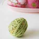 yarn wrapped easter egg