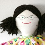 add yarn hair to a doll