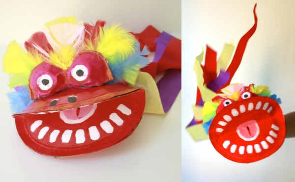 Chinese Dragon Puppet Fnished