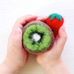 make a felt kiwi fruit