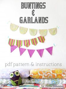 Make buntings and garlands template pattern