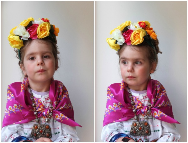 How to make floral headband for child Frida Kahlo costume