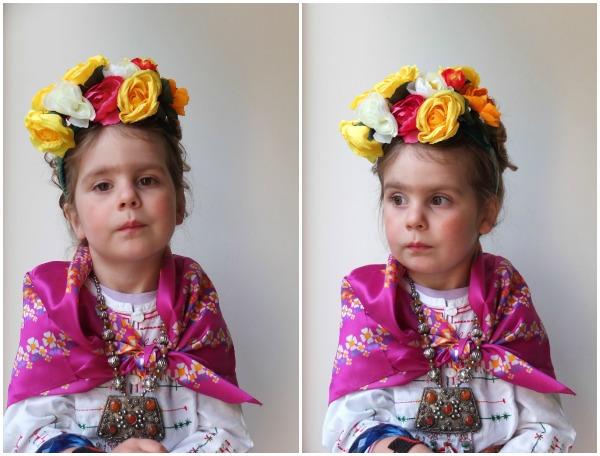 How to make floral headband for child Frida Kahlo costume