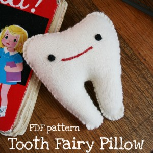 Tooth fairy pillow pattern PDF tooth softie