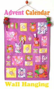 Advent Calendar Wall hanging - My Poppet