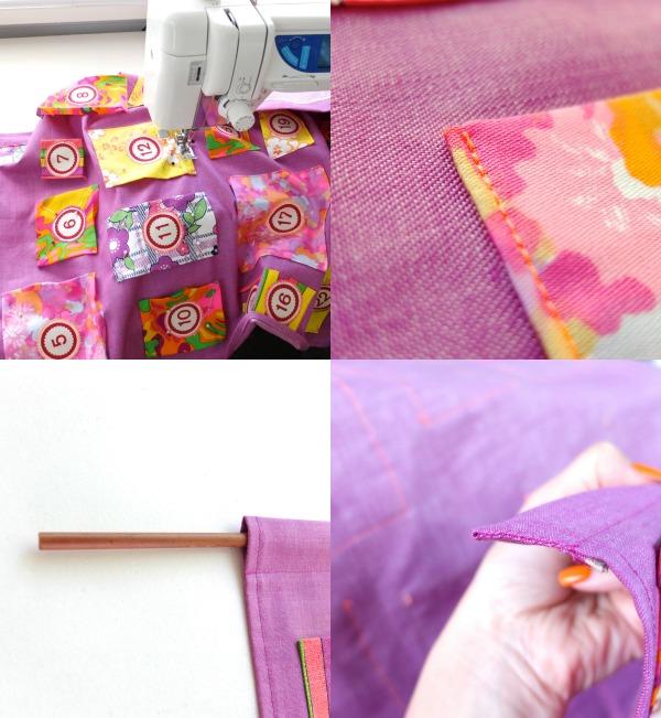 Sew pockets purple Christmas