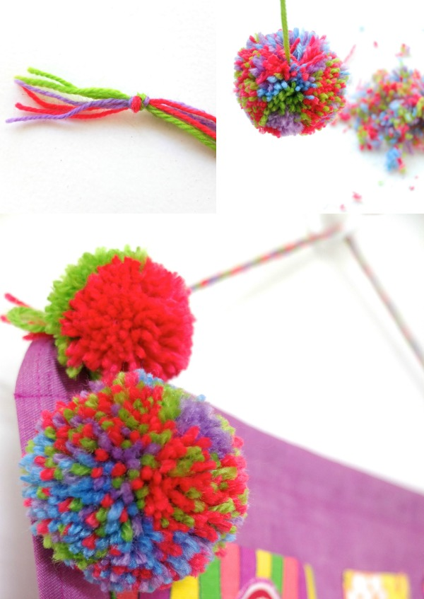make pom poms braid a cord