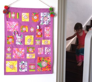 advent calendar wall hanging My Poppet