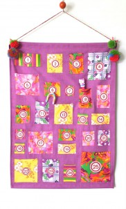 Vintage fabric advent calendar