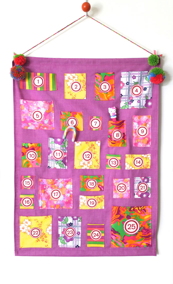 Vintage fabric advent calendar  christmas