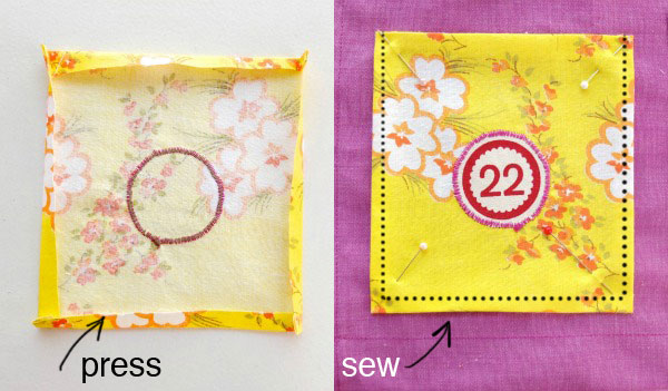 sew a pocket calendar