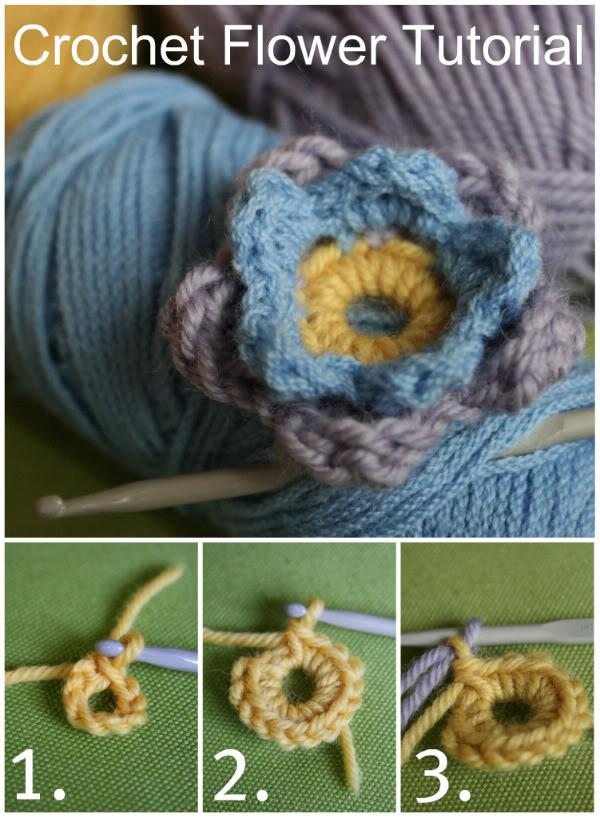 Crochet Flower tutorial... - My Poppet Makes