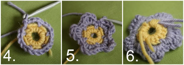Crochet Flower Step By Step Tutorial : Crochet Flower tutorial... - My Poppet Makes