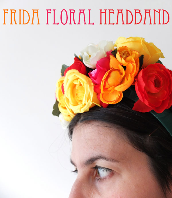 How To  Frida Kahlo inspired Floral Headband  d771d53362f