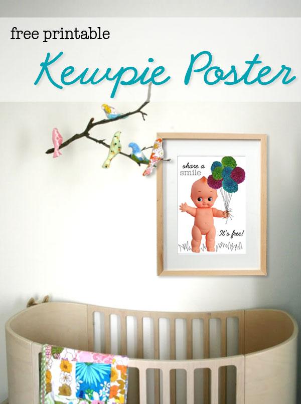 Kewpie doll poster pom pom
