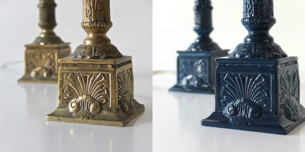Lamp base makover before and after