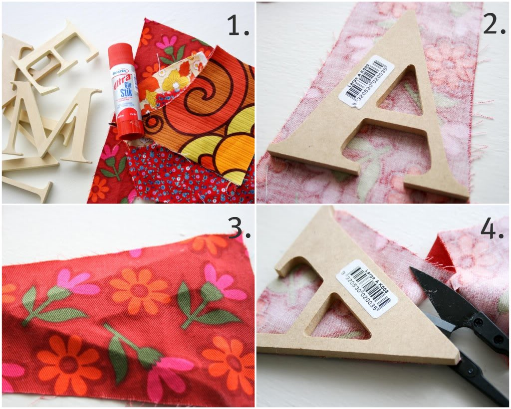 How To: Fabric Covered Letters - My Poppet Makes