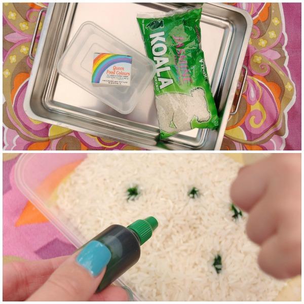 make colored rice