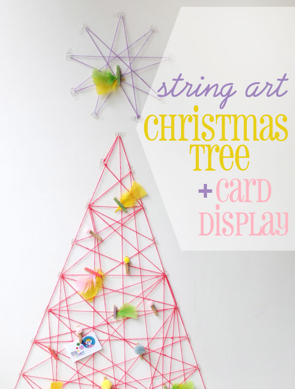 How To: String Art Christmas Tree & Card Display | My Poppet Makes