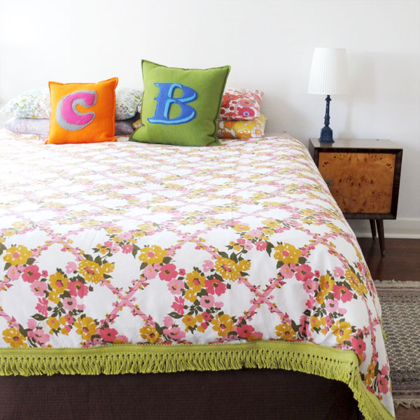 How To Vintage Sheet Duvet Cover