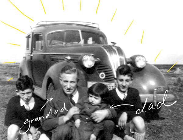 Vintage photo car