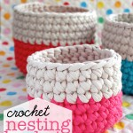 crochet baskets zpagetti yarn