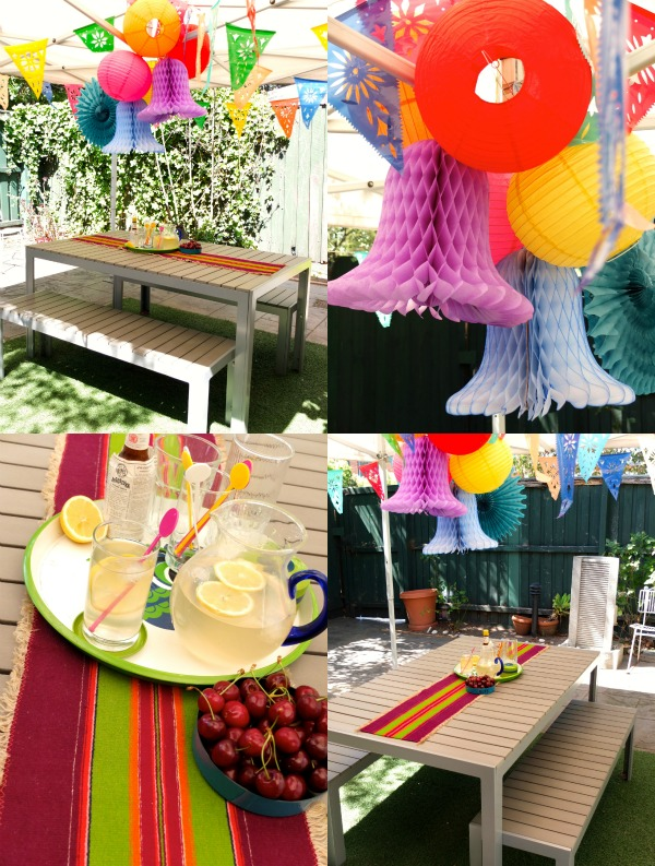 Cocktails Outdoor decorations table