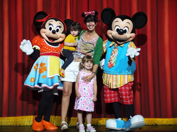 Mickey and Minnie mouse with My Poppet family